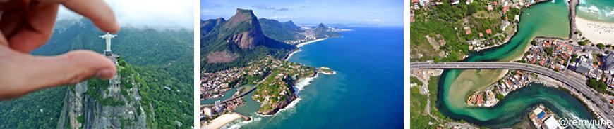 Photographies aériennes en parapente de Rio de Janeiro